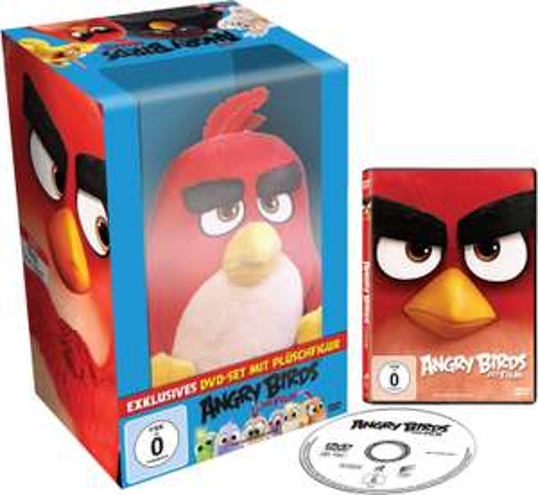 Angry Birds - Der Film + Plüschfigur RED [DVD] für 13€ bei Media Markt