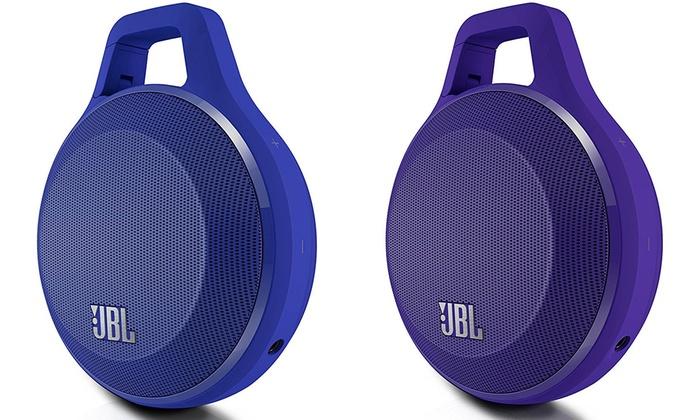 JBL Clip Lautsprecher Bluetooth wasserabweisend in Blau oder Lila 17,99€ @ groupon