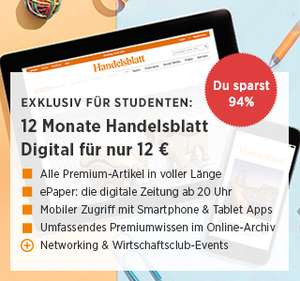 Handelsblatt Digitalpass  (für Studenten)