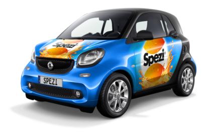 Smart mit Spezi-Werbung im Leasing für 59€/Monat