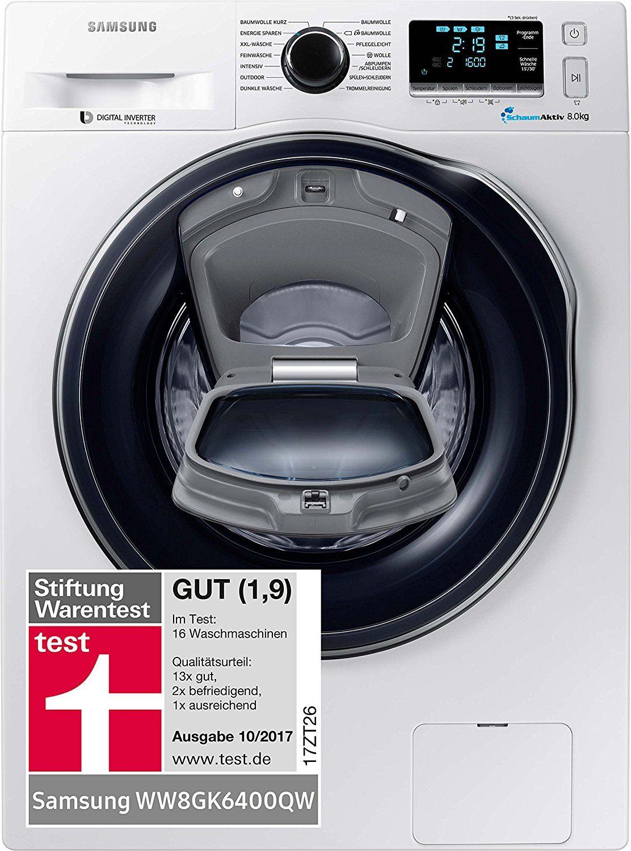 Samsung Waschmaschine 8kg 1400 U/min A+++ WW8GK6400QW/EG +Mikrowelle dabei
