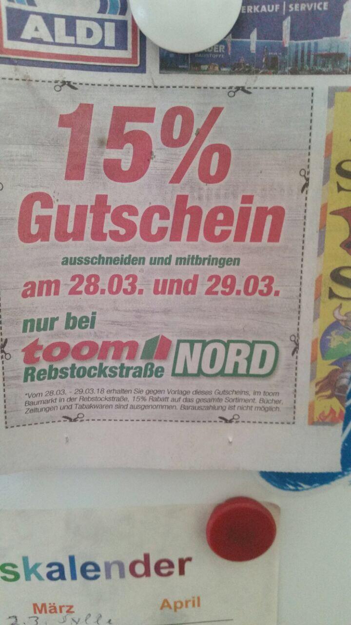 Bis zu 25% Rabatt bei Toom in Fürstenwalde (Lokal)