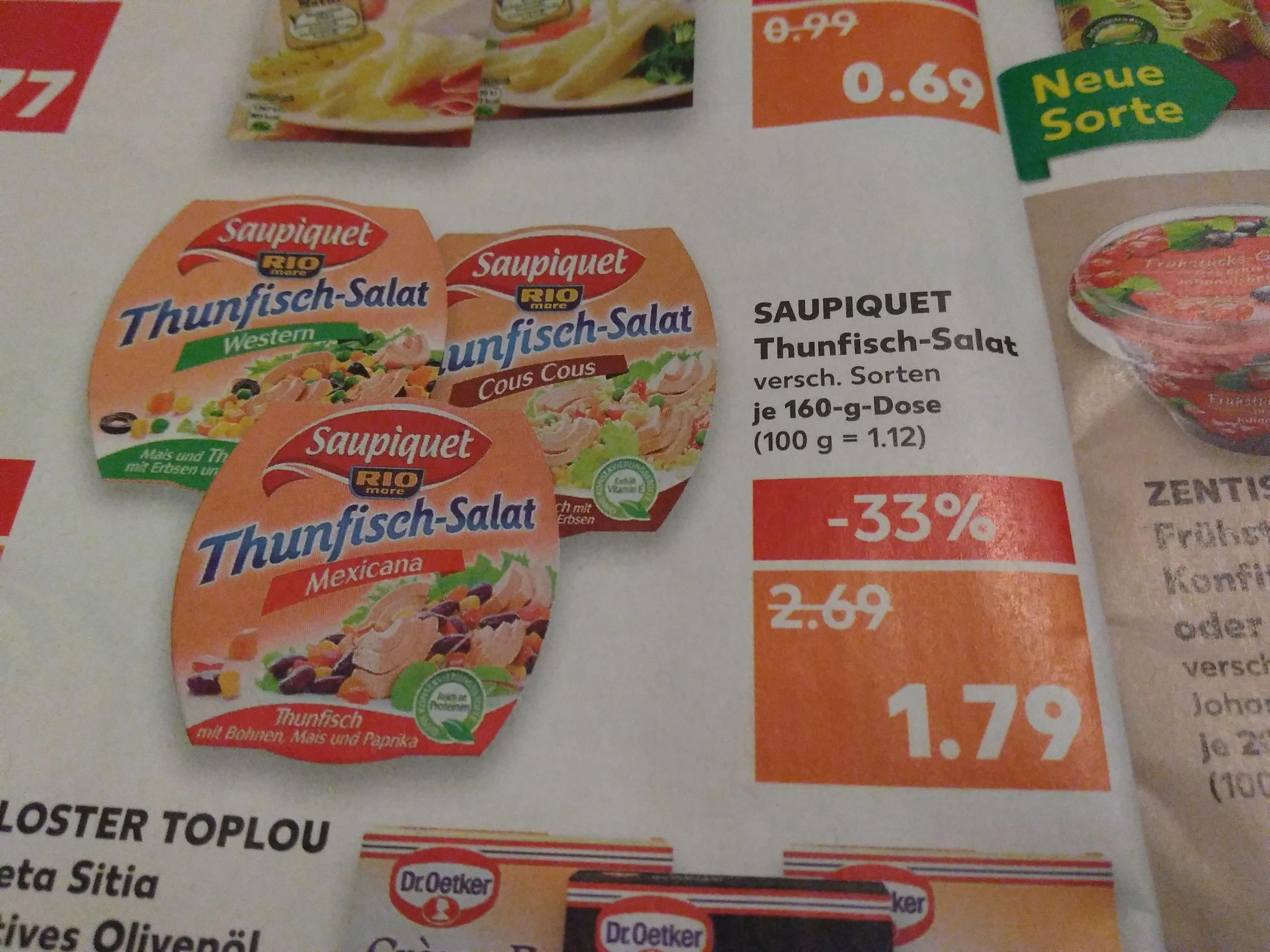 Saupiquet Thunfisch Salate 1,79€ [Bundesweit - Kaufland]