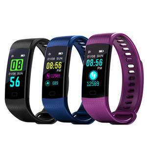 Goral Y5 0.96inch Color Screen Blood Pressure Heart Rate Monitor Sport Bluetooth Smart Wristband