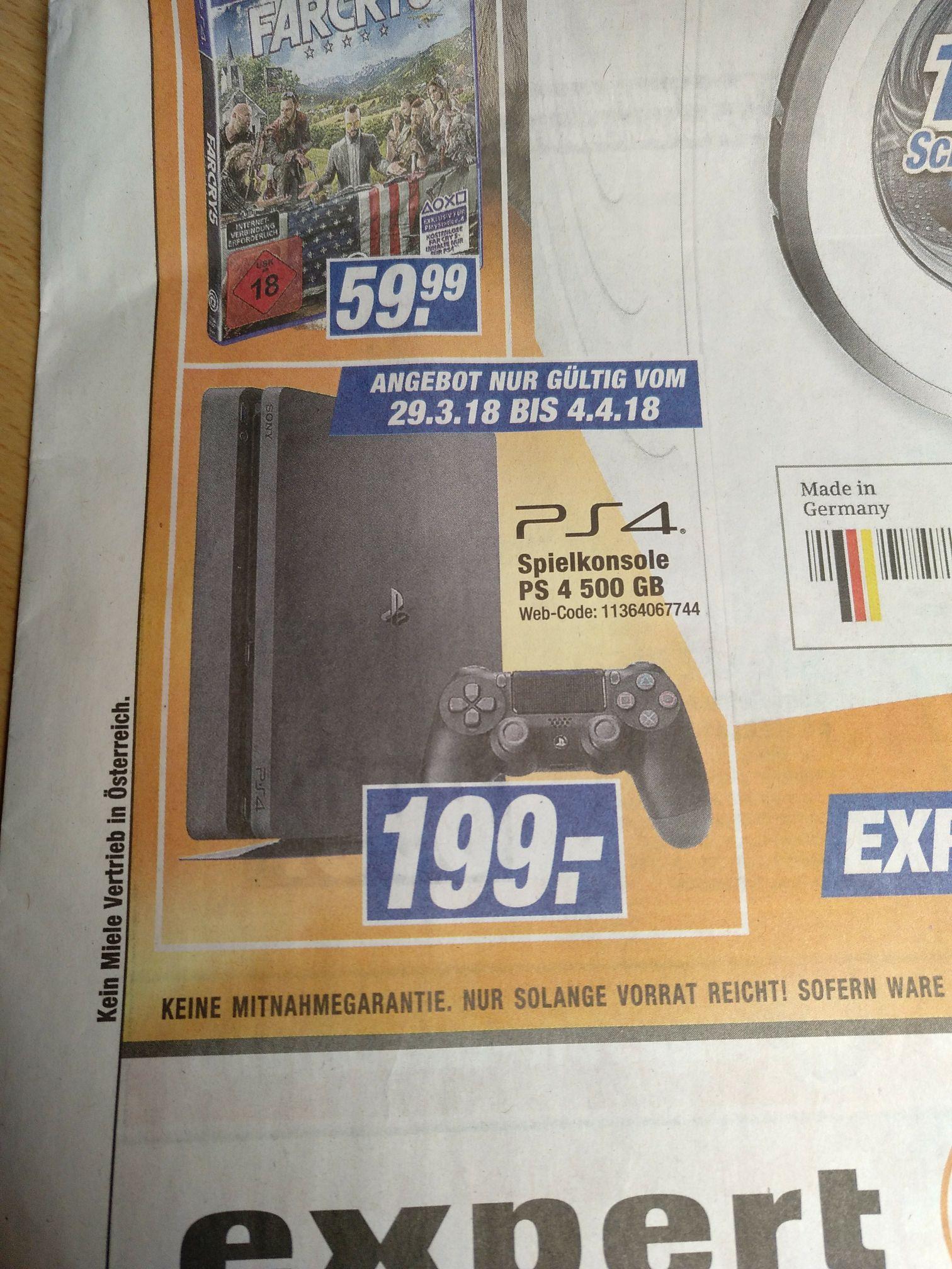 [LOKAL nur Offline] PS4 Slim 500 GB