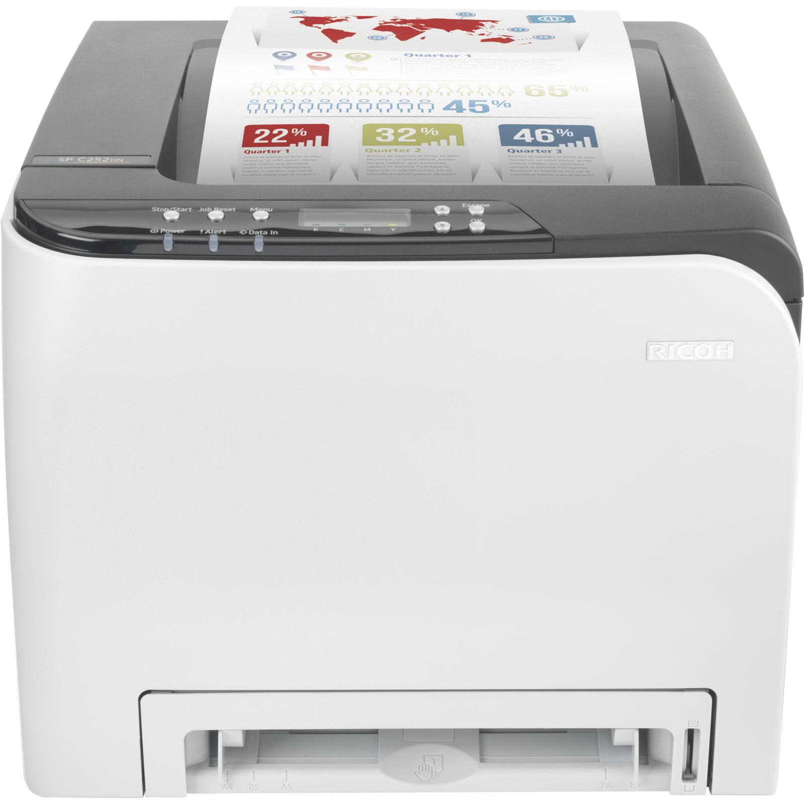 RICOH SP C252DN duplex Farb-Laserdrucker (WLAN, USB)
