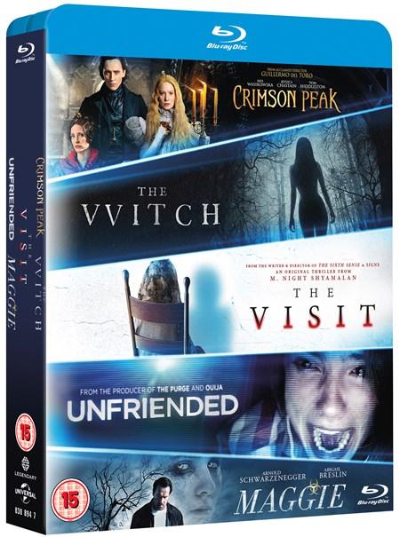 Crimson Peak + The Witch + The Visit + Unfriended + Maggie (5x Blu-ray) für 8,20€ (Zoom.co.uk)
