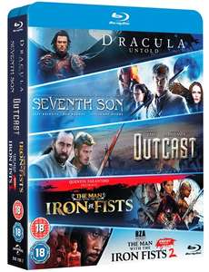 Dracula Untold + Seventh Son + Outcast + The Man with the Iron Fists 1 + 2 (5x Blu-ray) für 8,20€ (Zoom.co.uk)