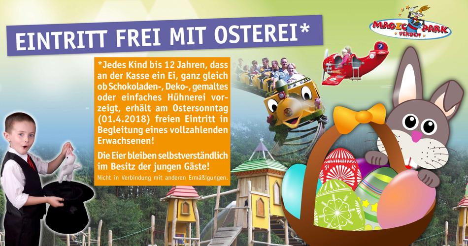 [Magic-Park Verden] - Ostersonntag - Freier Eintritt für Kinder bis 12 Jahren mit (Oster)Ei