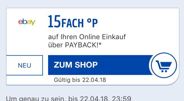 15-fach Payback Punkte bei Ebay