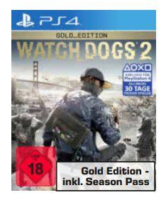 [Regional Saturn Berlin Spandau ab 03.04] Watch Dogs 2 Gold Edition (PS4) für 19,-€