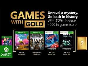 [Games with Gold im April] Assassin's Creed: Syndicate + The Witness (Xbox One) & Cars 2: The Video Game + Dead Space 2 (Xbox 360)