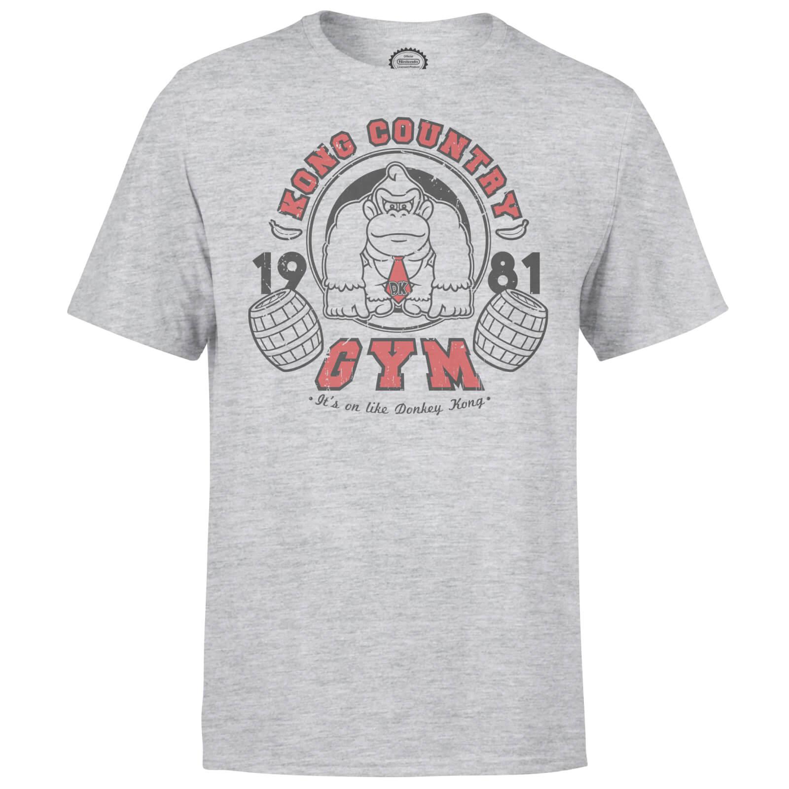 """Nintendo Retro Donkey Kong T-Shirt """"Gym"""", Grau *neues Motiv*"""