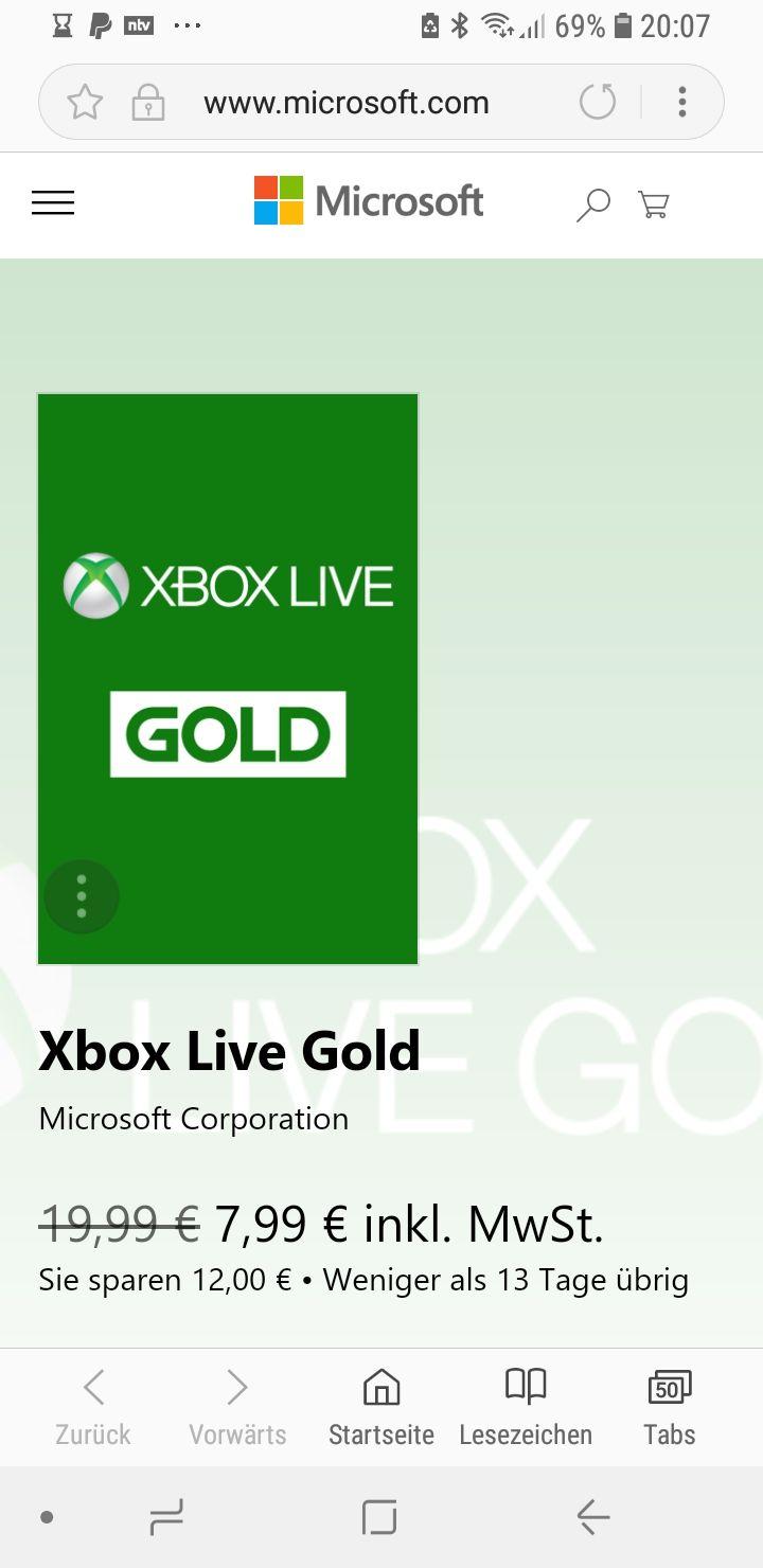 Xbox live 3 Monate direkt auf der Xbox kaufen
