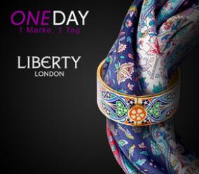 Nur heute bei Vente Privee: Edle Seidenschale und Armreifen mit floralen Mustern von Liberty London schon ab 69,90 Euro