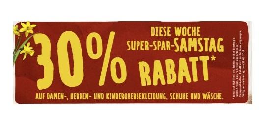 (offline) Rewe-Center: Am Samstag gibt es 30% Rabatt auf Textilien und Lederwaren!*
