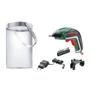 [eBay] Bosch Akkuschrauber IXO (mit Solarlampe, 10 Bits, Micro USB Ladegerät, Karton, 3,6 Volt, 1,5 Ah) mit Gutschein PUSCHEL4
