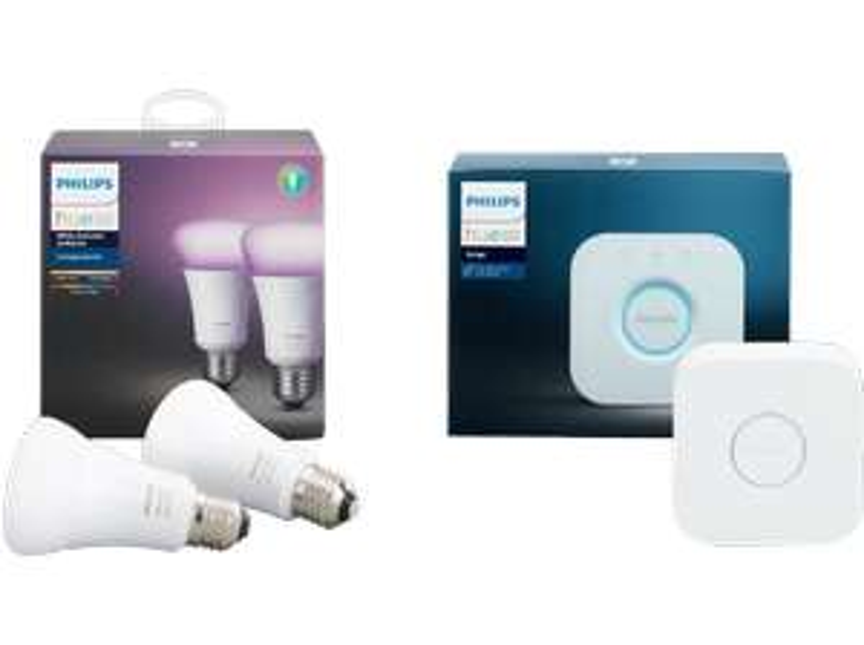 Philips Hue White & Color Ambiance Set Top-Preis für 2 Lampen (10 Watt, E27) & Bridge