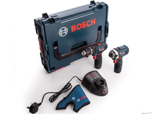Bosch Professional 12 V Akku-Schlagbohrschrauber + Akku-Drehschlagschrauber | 2x 2,0 Ah Li-Ion im Koffer