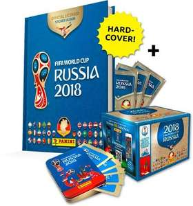 FIFA World Cup 2018 Panini Hardcover-Stickeralbum + 540 Bilder in versch. Boxen