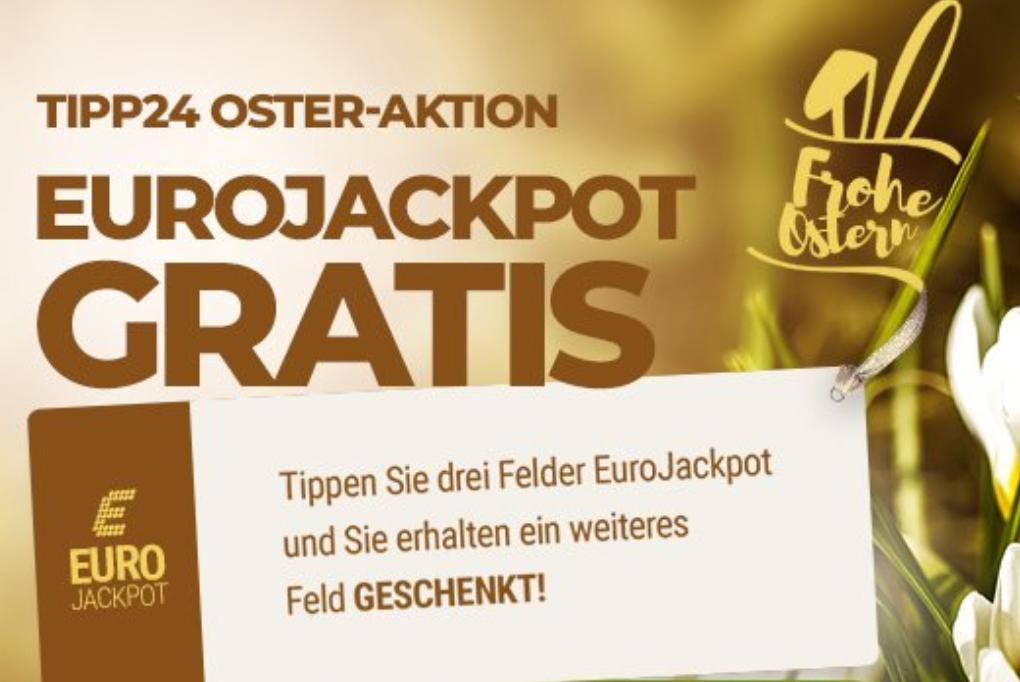 Ein Gratisfeld Eurojackpott beim Kauf von 4 Feldern