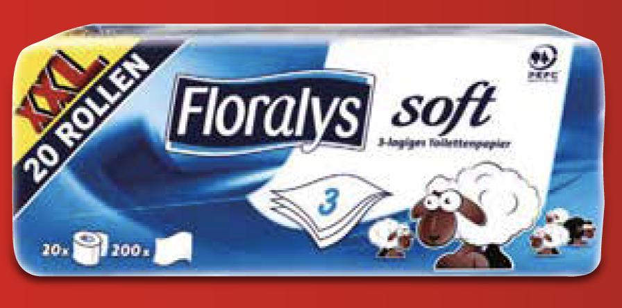 [ab 3.4 bei LIDL] 20 Rollen Toilettenpapier Soft XXL