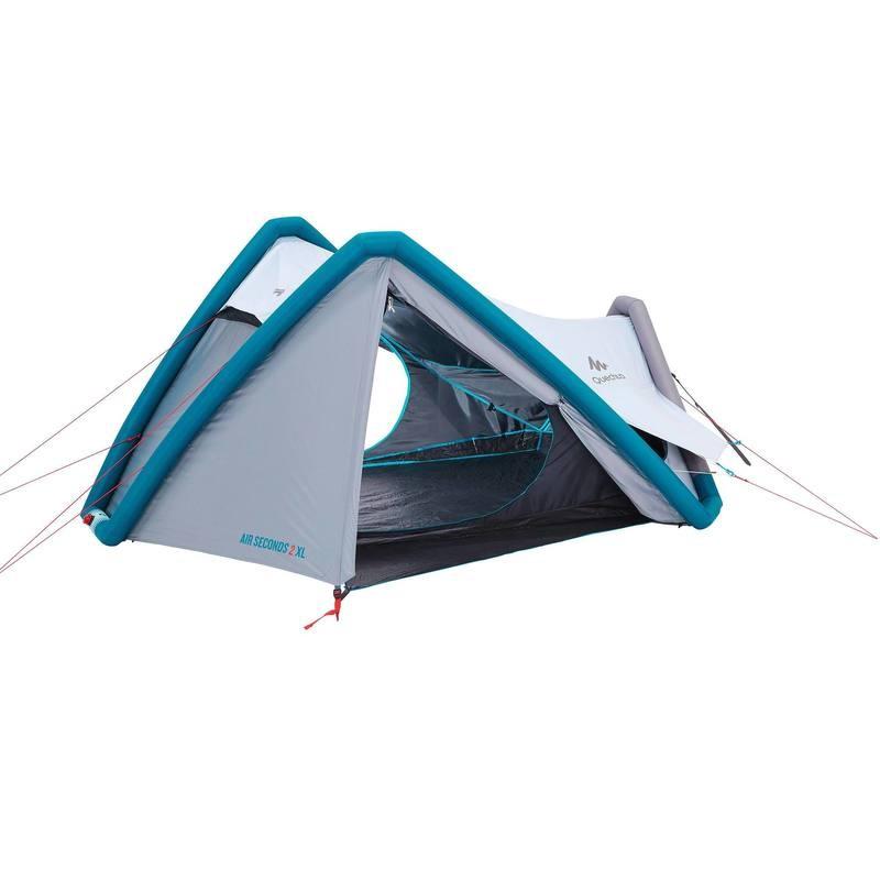 Campingzelt Air Seconds XL Fresh&Black für 2 Personen weiß QUECHUA