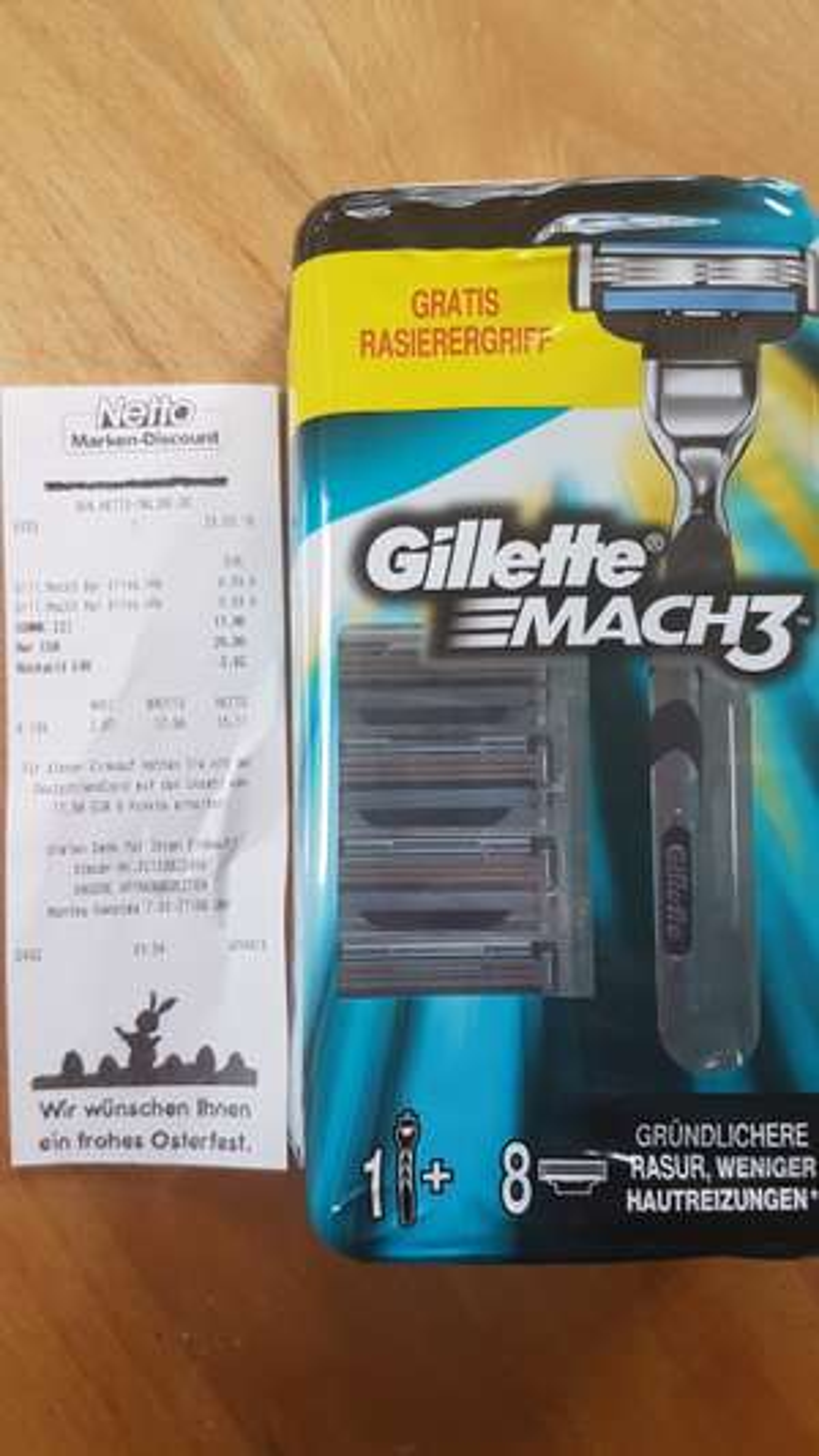 (lokal?) Netto MD Gillette Mach3 8 Klingen + Handstück