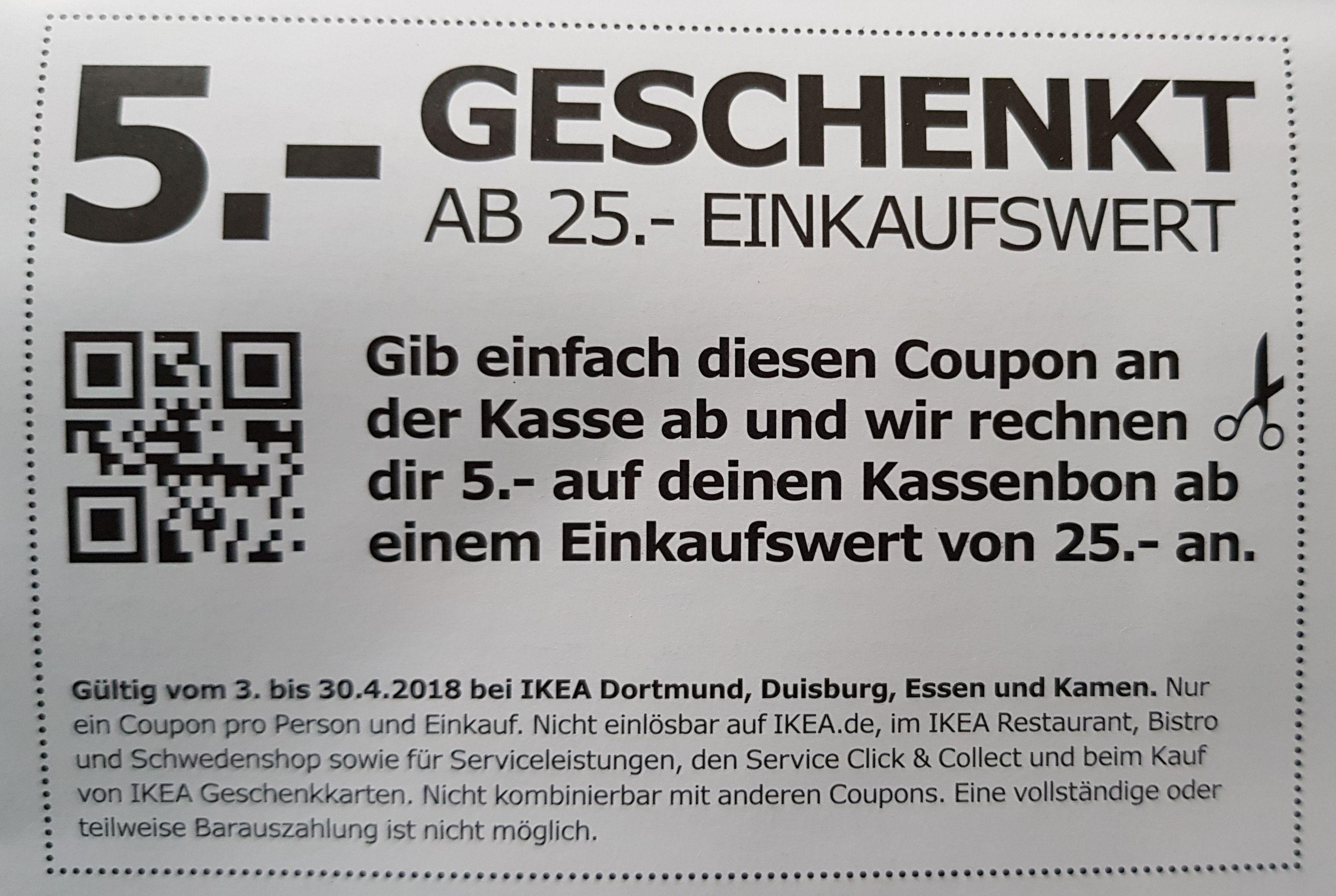 IKEA 5 € Gutschein ab 25€ Einkaufswert LOKAL