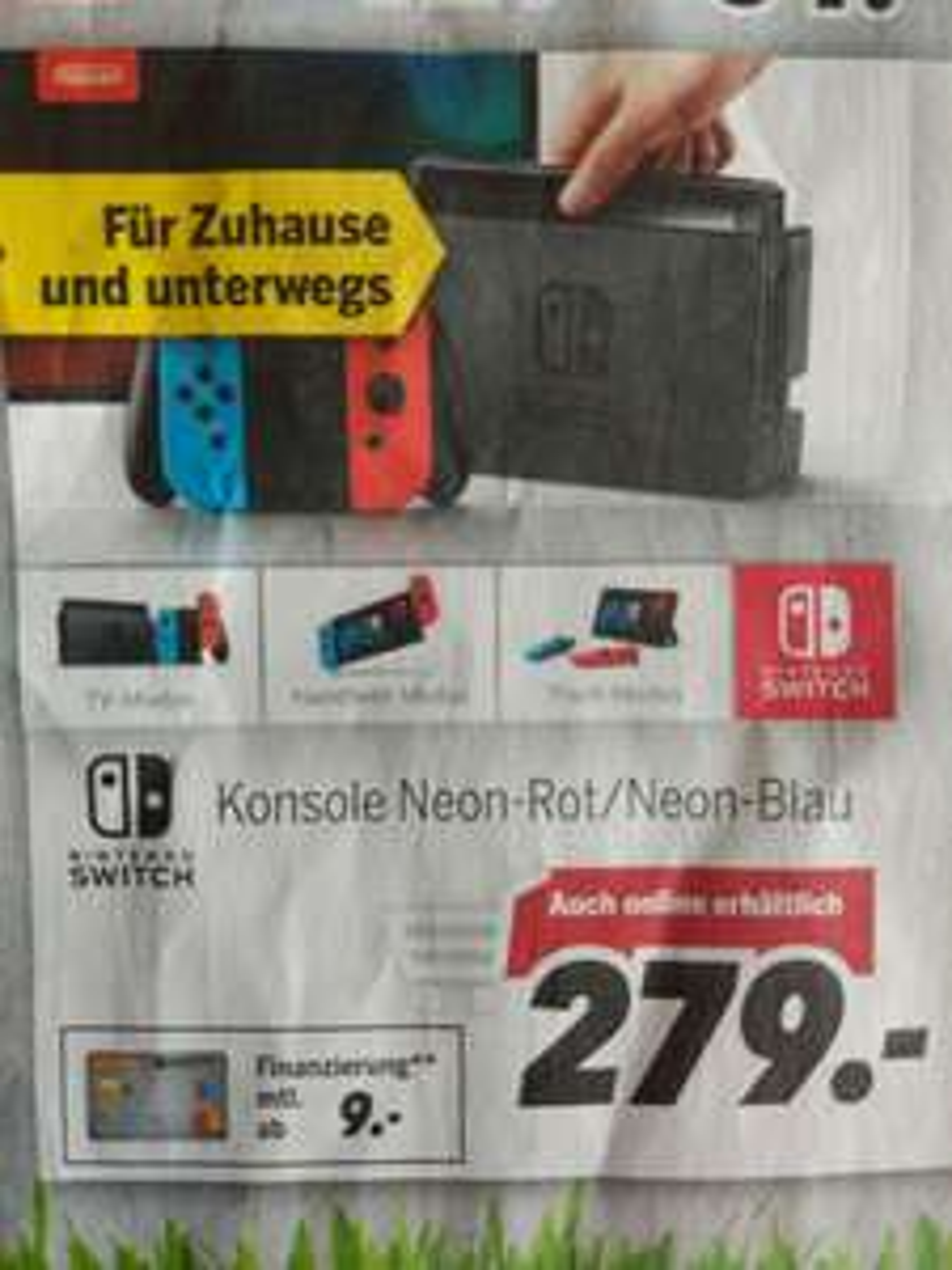 [Lokal/31.03] Nintendo Switch für 279€ | Medimax Laufenburg/Rheinfelden