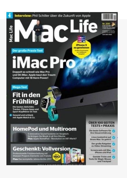[abofreude] Mac Life Jahresabo für 94,60 € mit z.B. 60€ Bestchoice Gutschein
