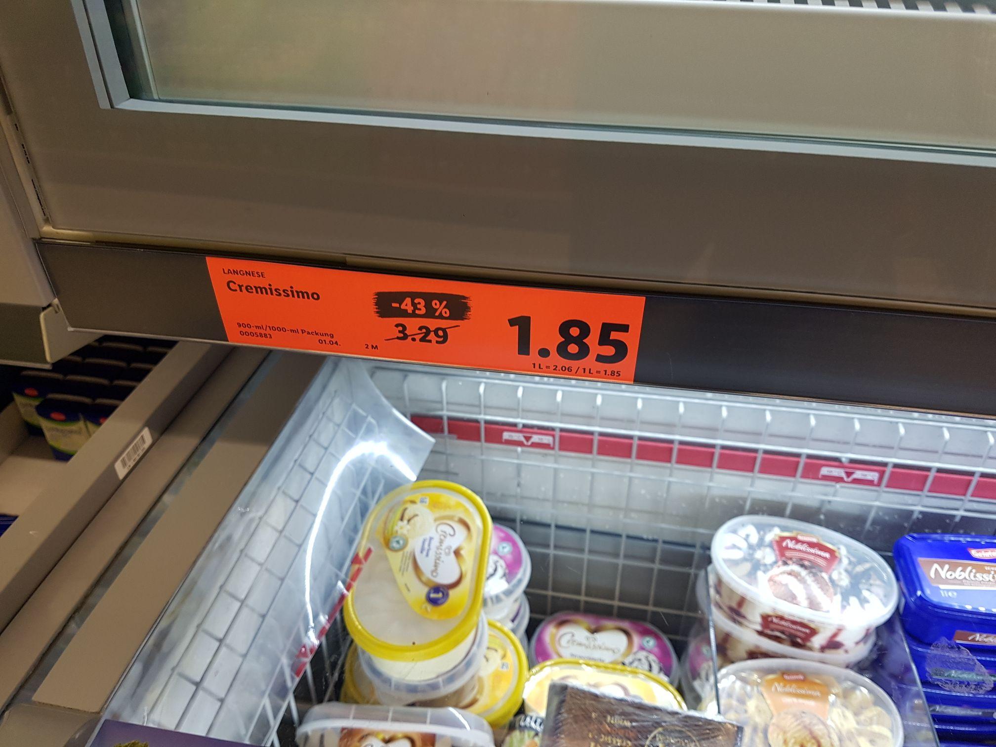 Lidl - Cremissimo für 1,85 € (verschieden Sorten)