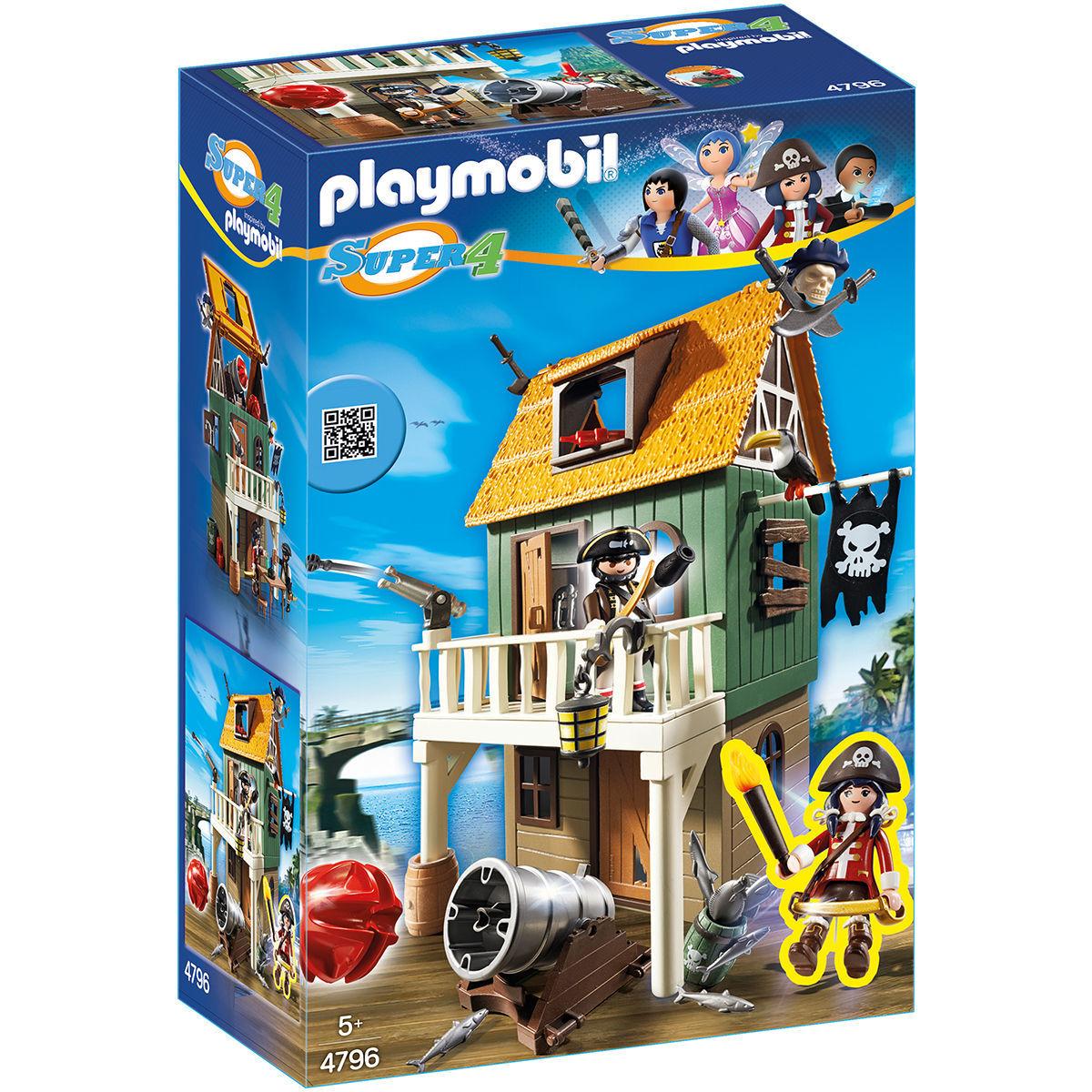 PLAYMOBIL 4796 Super 4 Getarnte Piratenfestung mit Ruby [karstadt.de]