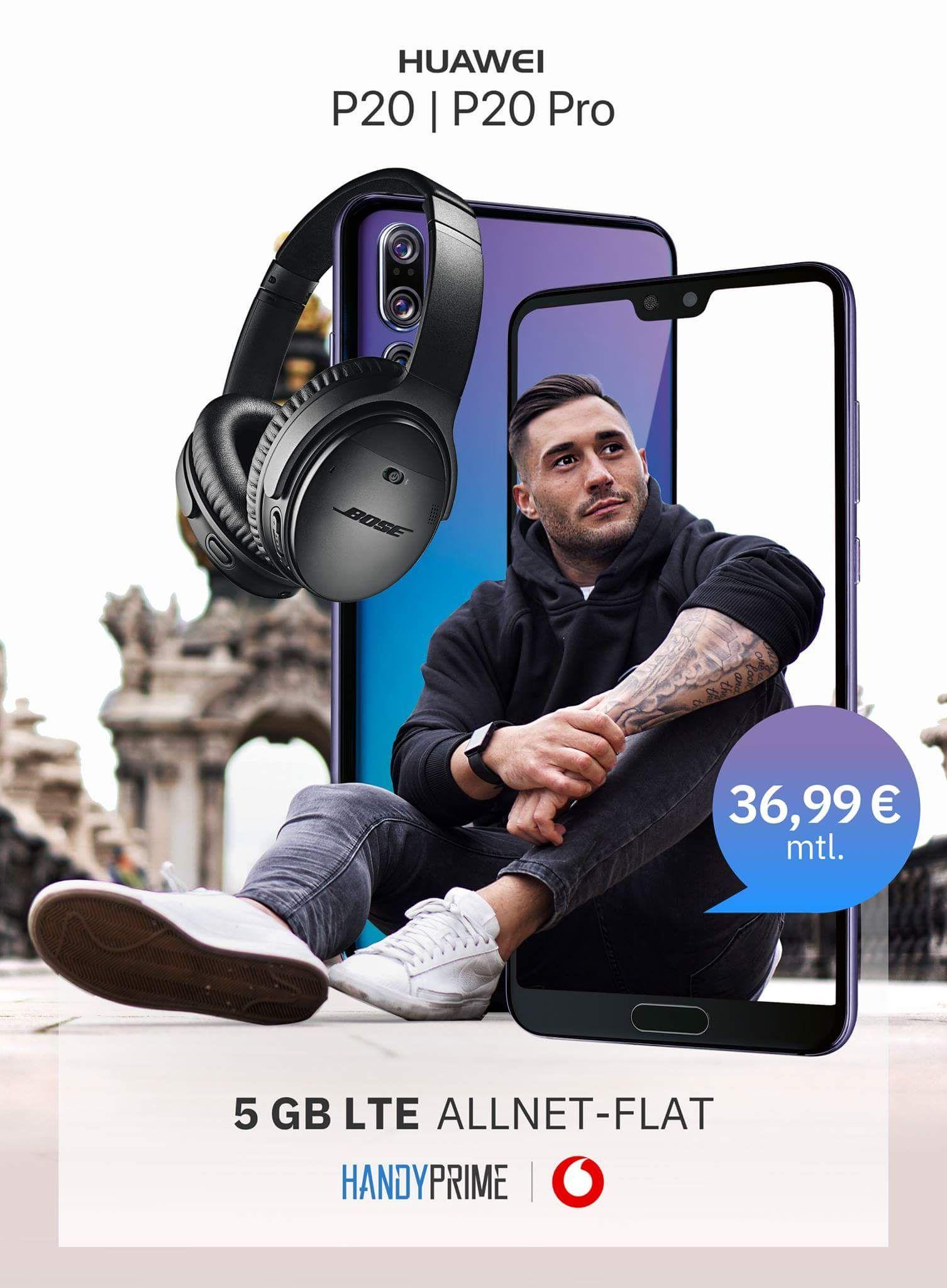 [Handyprime] Huawei P20 weitere Smartphones Vodafone Smart L+ Aktion (5 GB LTE, Allnet- & SMS Flat) für 891,76