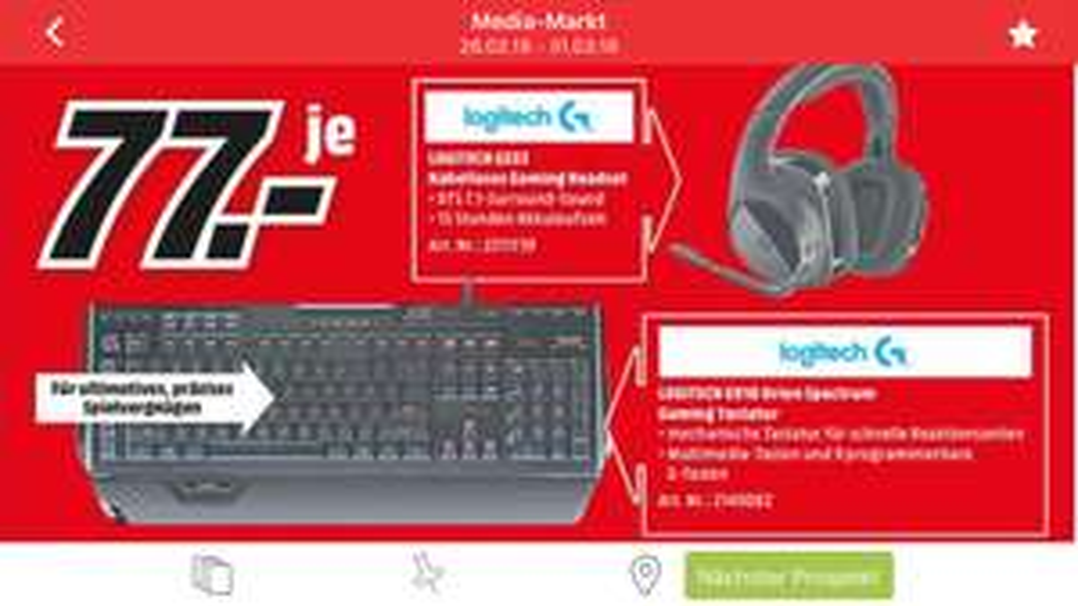 Logitech G910 Lokal MediaMarkt Berlin&Brandenburg