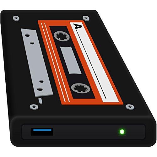 [Amazon Prime] HipDisk externes Festplattengehäuse im Oldschool Kassettenlook - 2,5 Zoll, USB 3.0 aus Aluminium mit Silikon-Schutzhülle