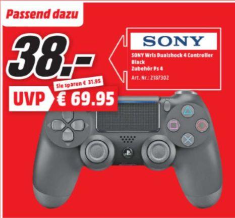 [Regional Mediamarkt Dietzenbach / Egelsbach, Tagesangebot Nur Samstag] Sony DUALSHOCK 4 Wireless Controller v2, Gamepad schwarz für 38,-€
