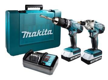 Makita 18V Li-Ion Akku-Schlagschrauber und Akku-Schlagbohrschrauber DK18015X1 inklusive 2 Akkus im Koffer für 192,99€ [Westfalia]
