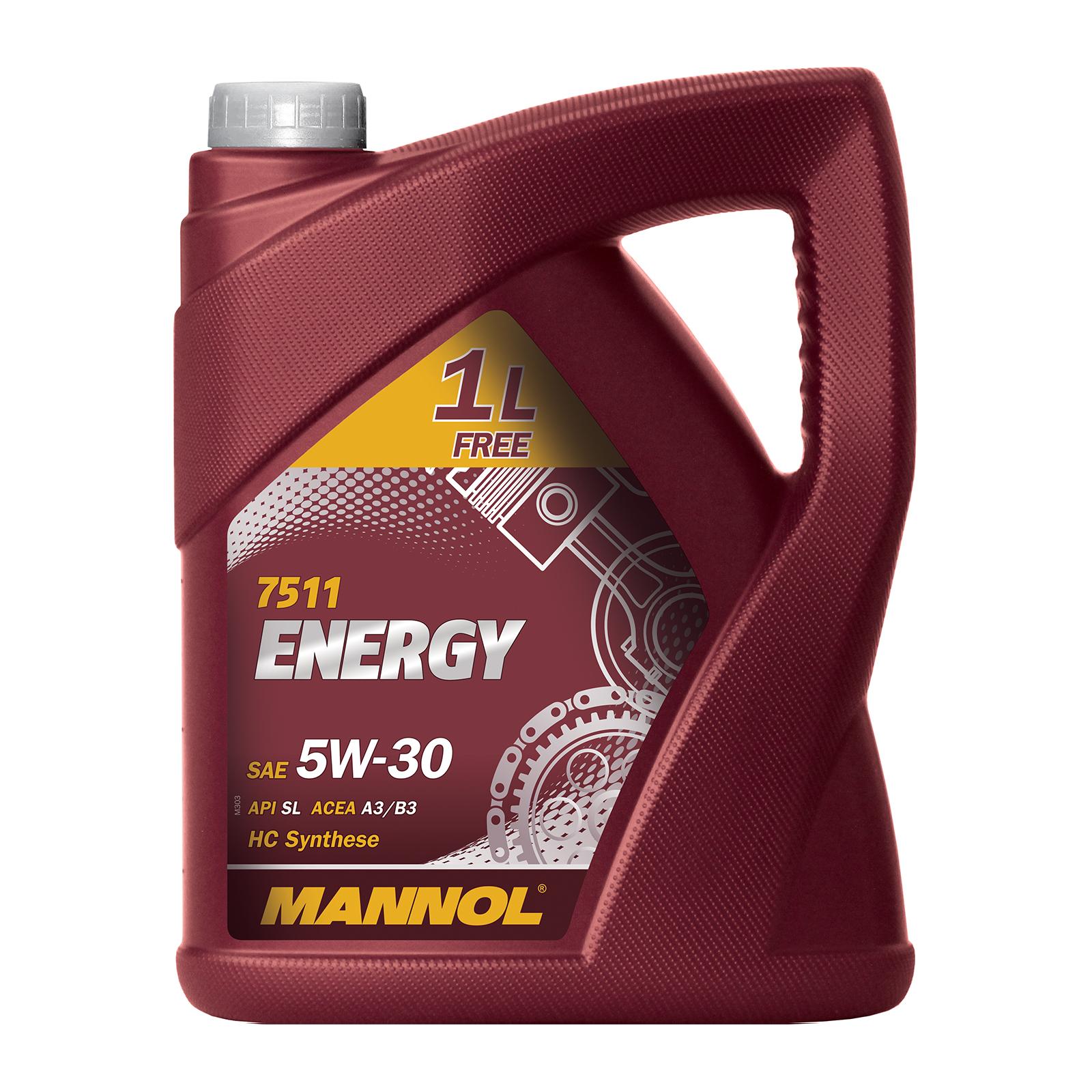 5 Liter MANNOL SAE 5W-30 ENERGY inkl. Versand