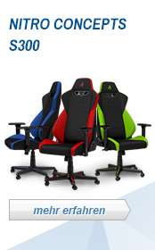 [Caseking] Nitro Concepts  S300 Gaming Stuhl Bürostuhl - Inferno Red