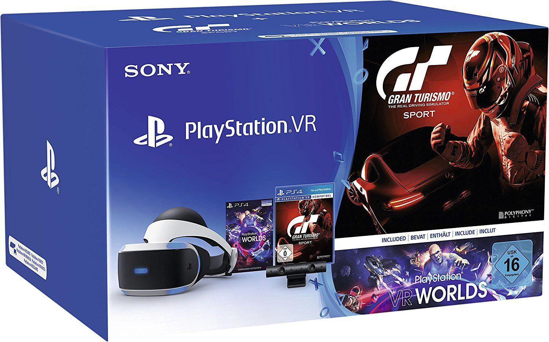 SONY PlayStation VR + Camera + VR Worlds + GT Sport Bundle V1 alternativ: V2 ohne GT Sport [Ebay Spanien]