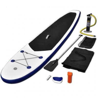 [crowdfox] vidaXL Stand Up Paddle Surfboard SUP aufblasbar Blau und Weiß für 169,99€