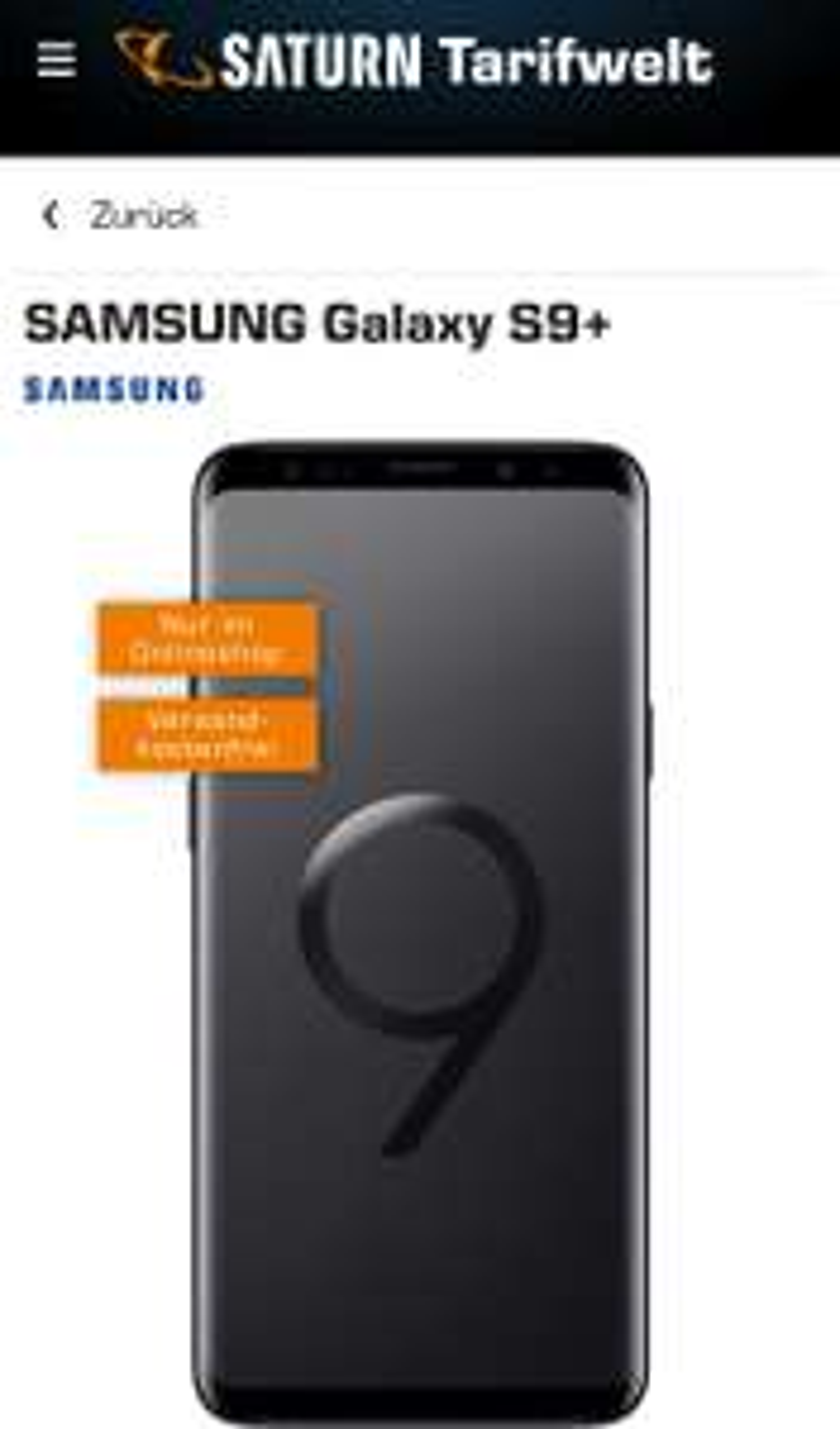 Vodafone Real Allnet (md) mit Samsung Galaxy S9 Plus: mtl. 36,99 € + 99 € (Preissenkung) – Allnet-Tarif mit 8 GB sichern!