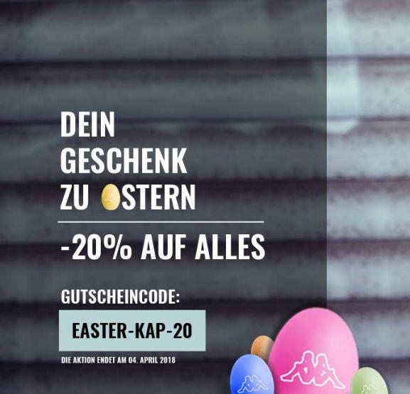20% Oster-Rabatt auf Alles im [Kappa-Shop]