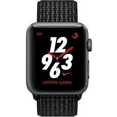 Apple Watch Nike+ Series 3 mit Sport-Loop (LTE, 38mm) für 354,99€ (MQMA2ZD) statt 429€ oder Apple Watch Series 3 (GPS + Cellular) Edelstahl 38mm schwarz mit Milanaise-Armband schwarz (MR1Q2ZD/A) für 634,99€ statt 759€ [alternate]