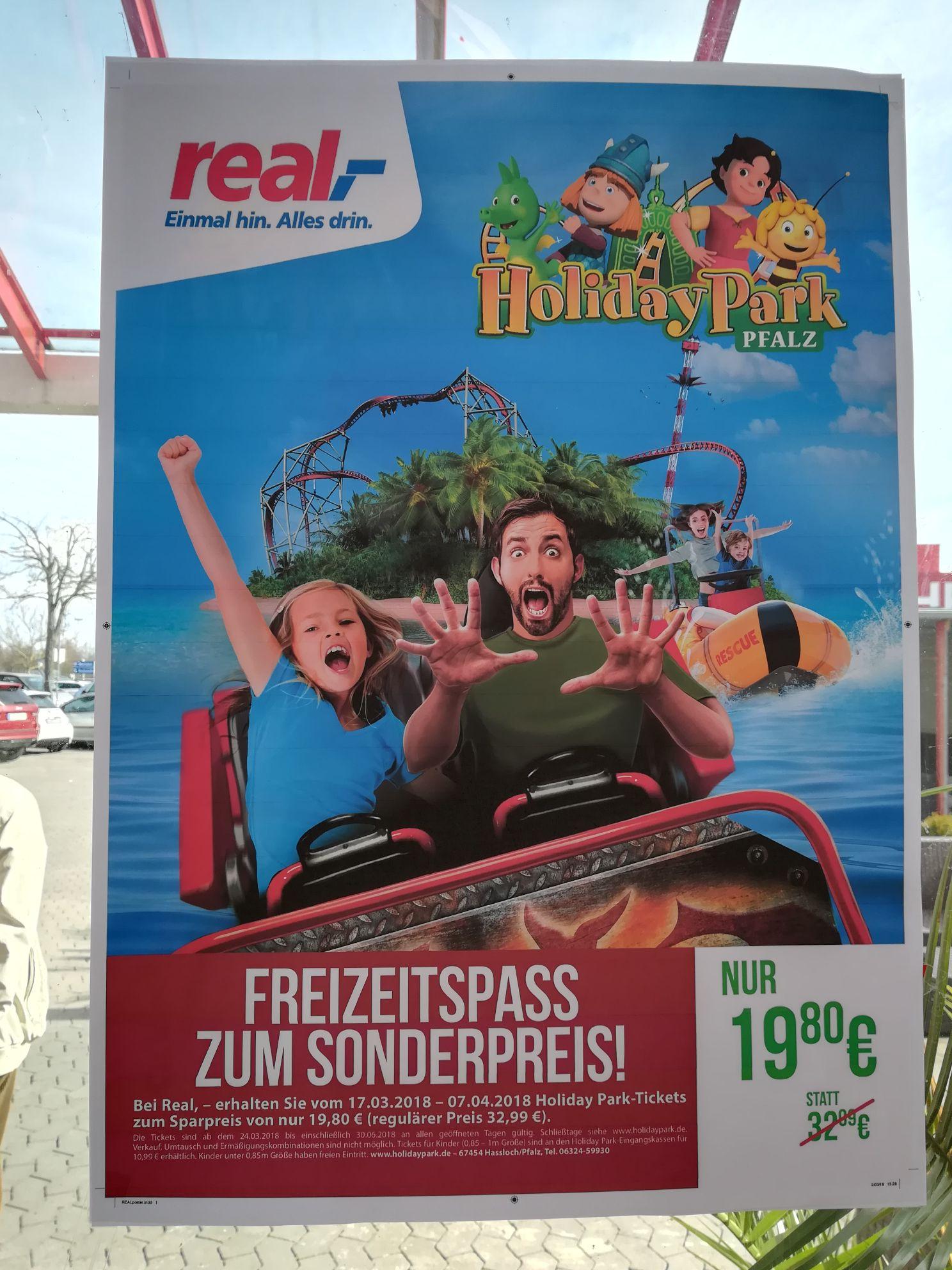 [lokal Real Pfalz? ]  Holiday Park Ticket für 19,80€ statt 32,99€ - Gültigkeit begrenzt