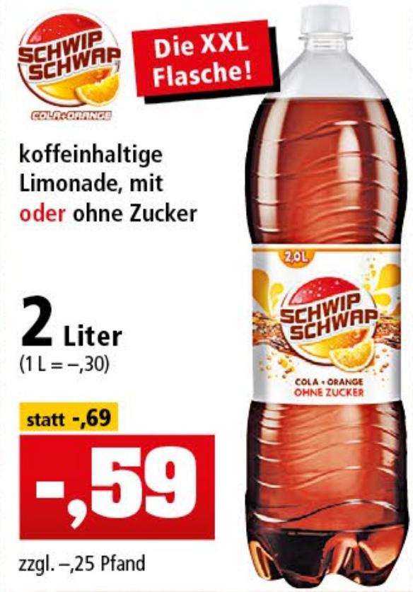 Schwip Schwap oder Light 2-Liter für nur 0,59€ [Thomas Philipps ab 03.04.18]