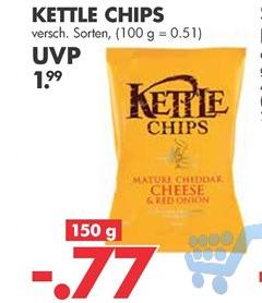 Kettle Chips versch. Sorten 150g für nur 0,77€ [Jawoll ab 04.04.18]