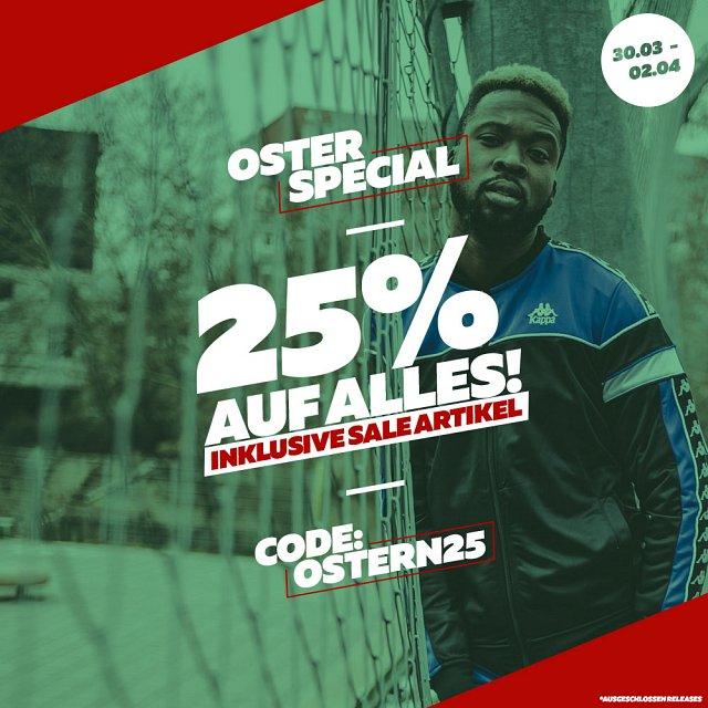 25% Rabatt auf ALLES - Klamotten, Schuhe, Accessoires sowie Sale
