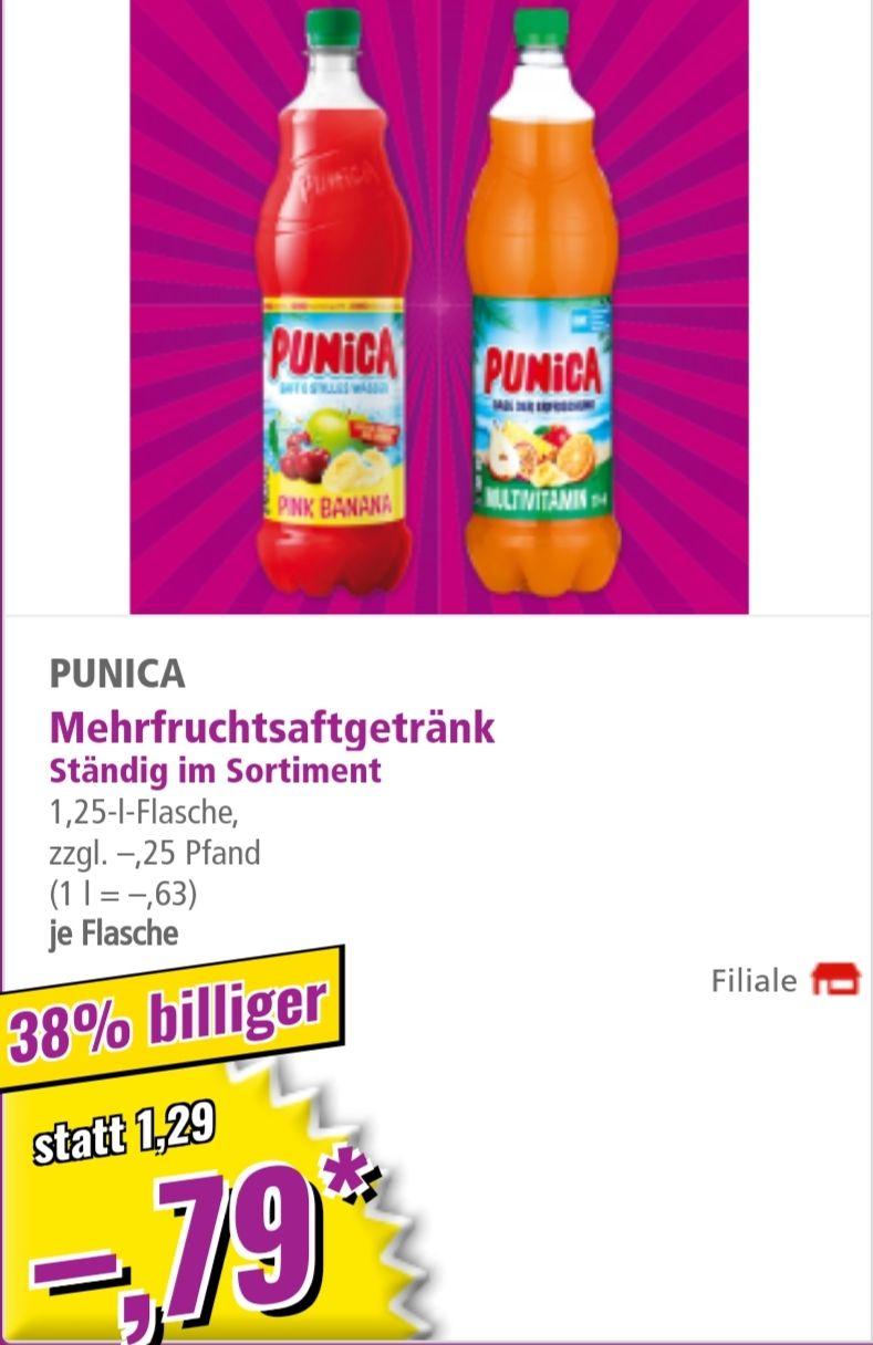 Punica Mehrfruchtsaftgetränk für 0,79€ je 1,25L Flasche verschiedene Sorten bei NORMA